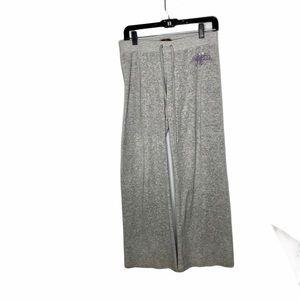Juicy couture vintage grey velvet leisure pants